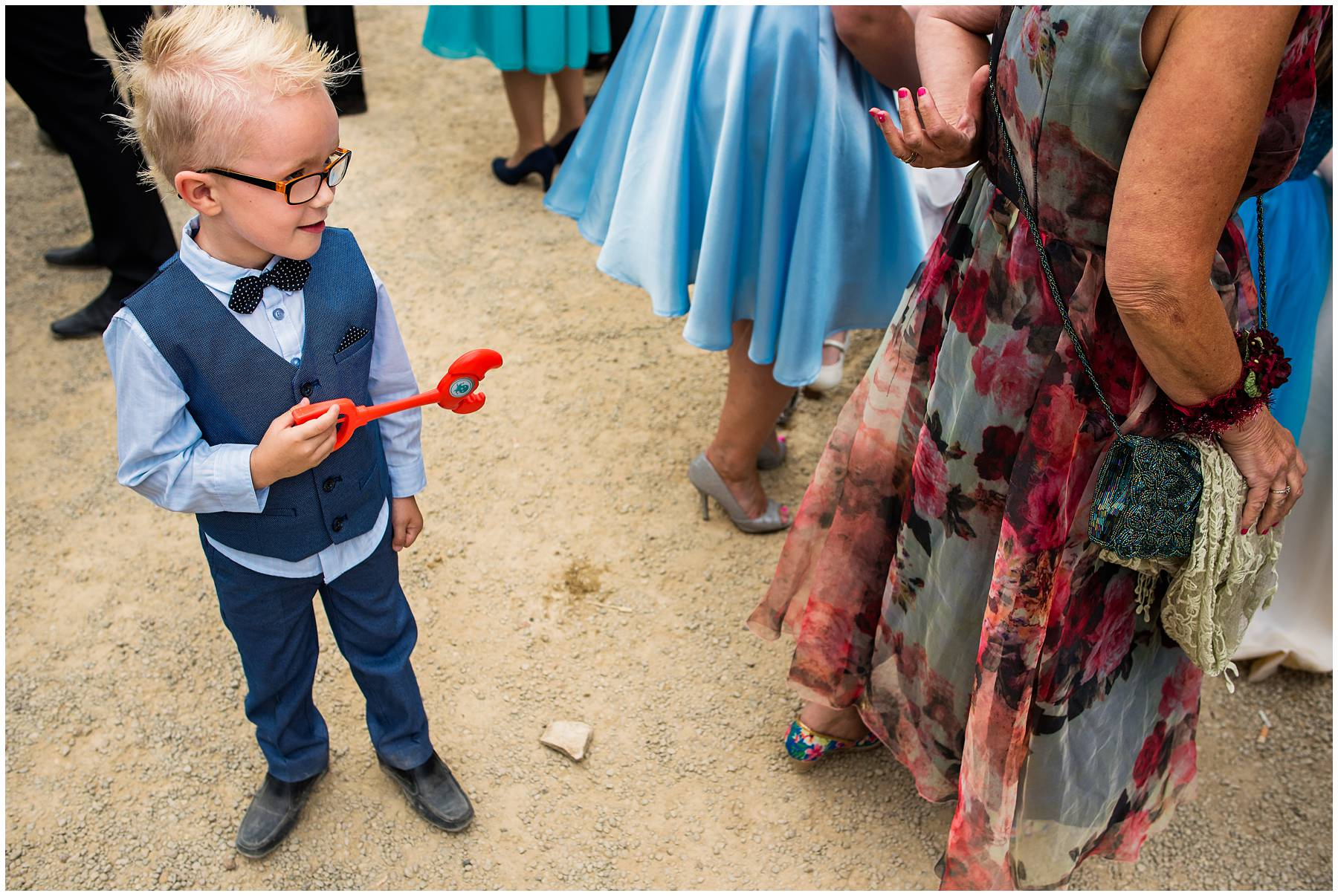 Funny kid at Blenheim Palace Wedding