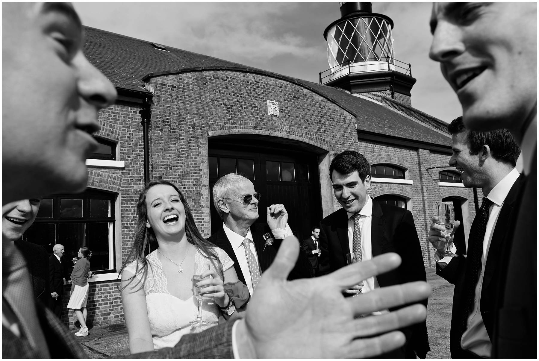 Wedding guests at Trinity Buoy Wharf