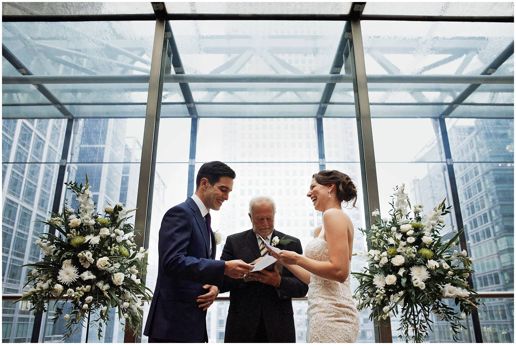 Canary Wharf Wedding Ceremony