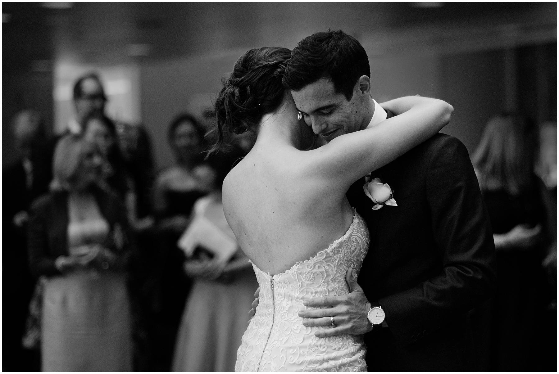Wedding first dance at Canary Wharf
