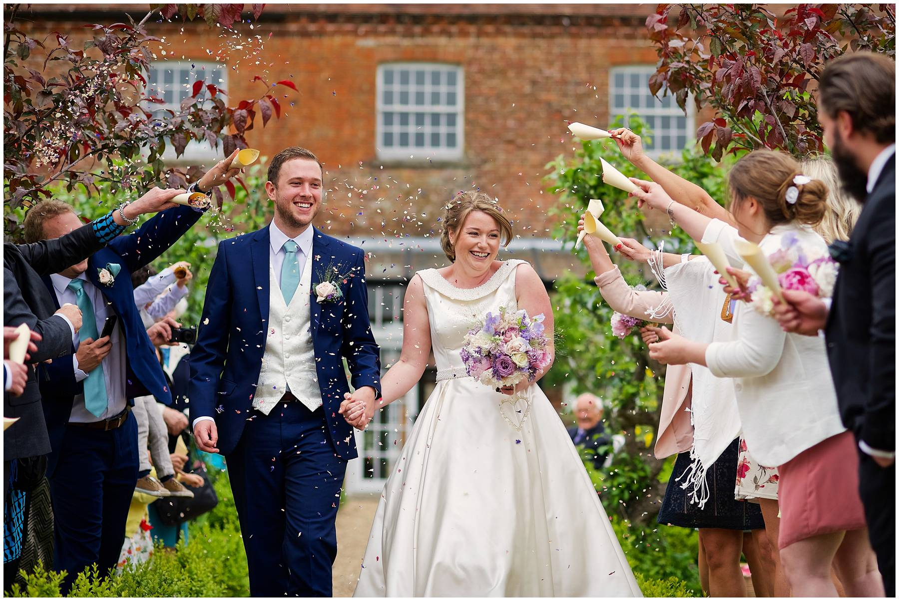 Confetti at Kent Secret Garden Wedding