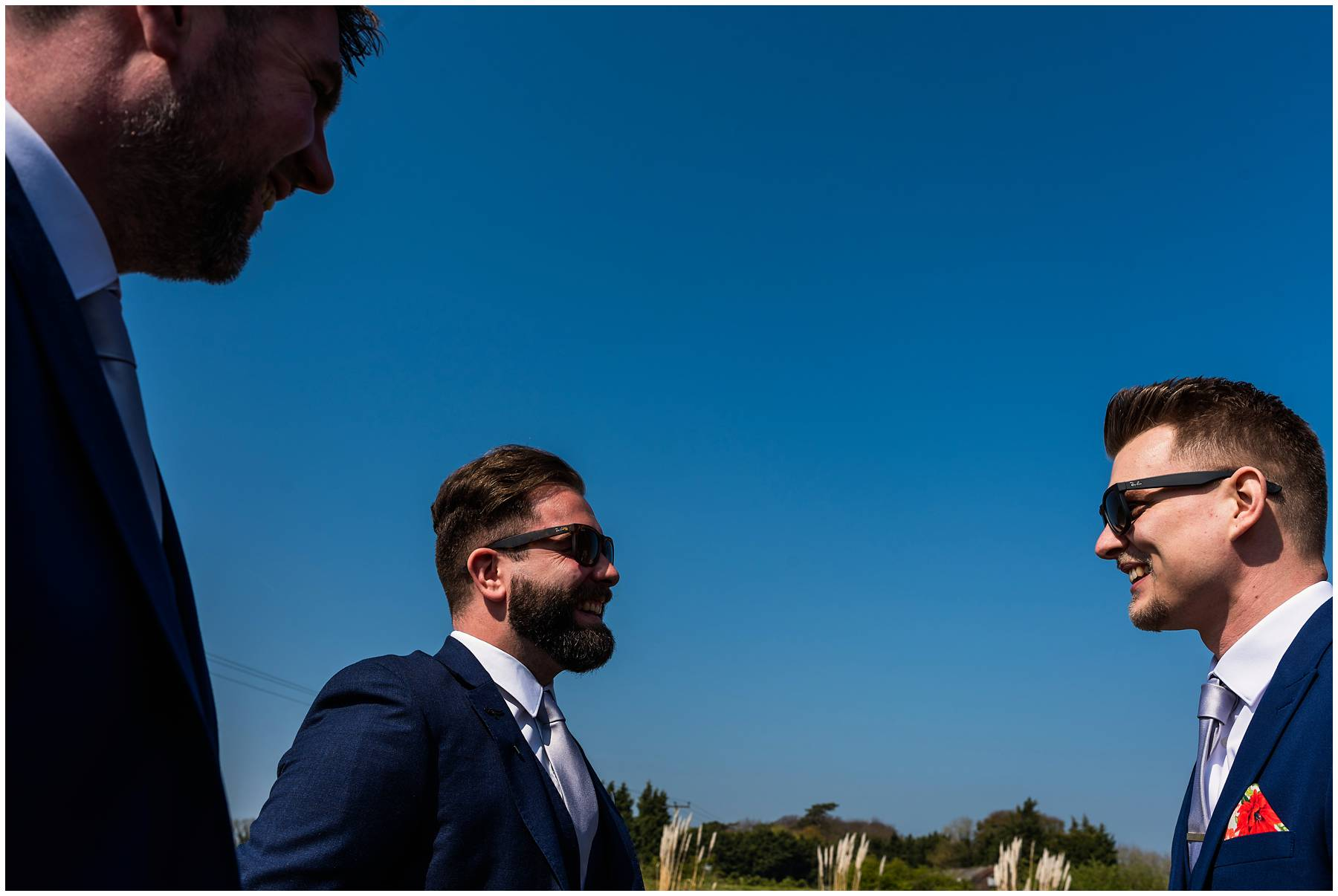 Groom and Groomsmen at The Winding House