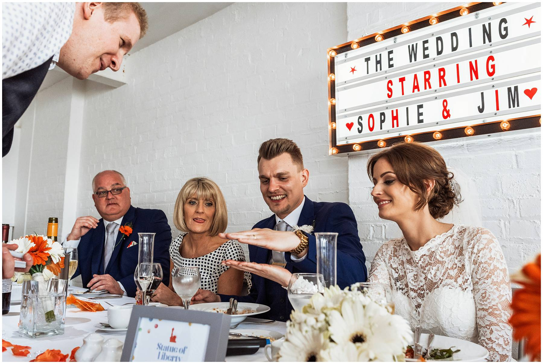 Magician working at Dover Wedding