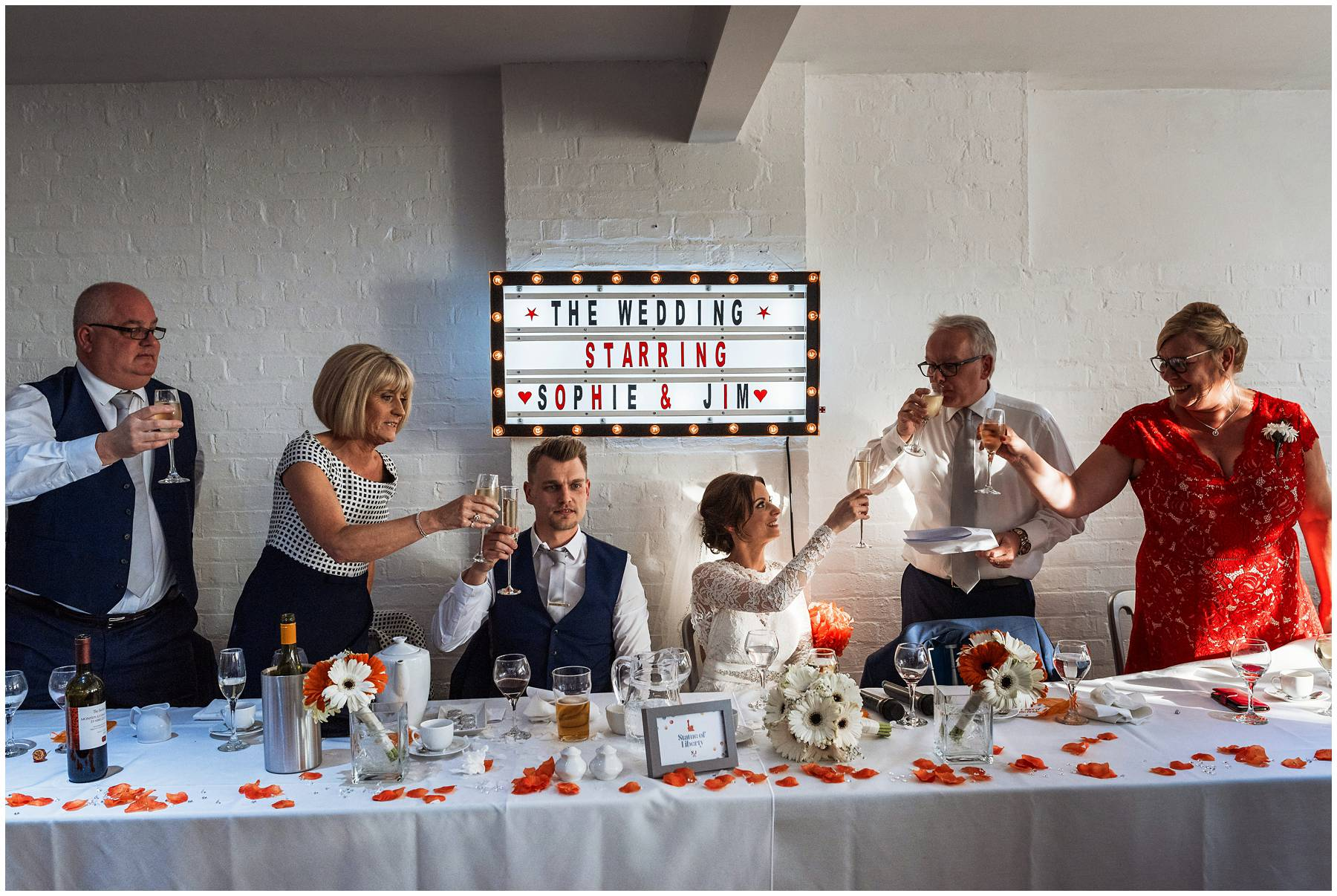 Wedding toasts at The Winding House