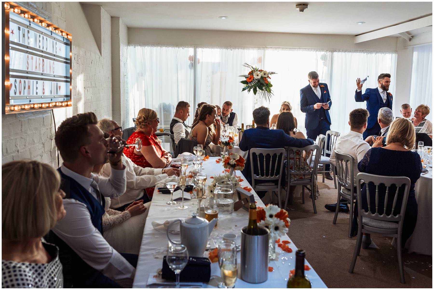 Wedding speeches at The Winding House