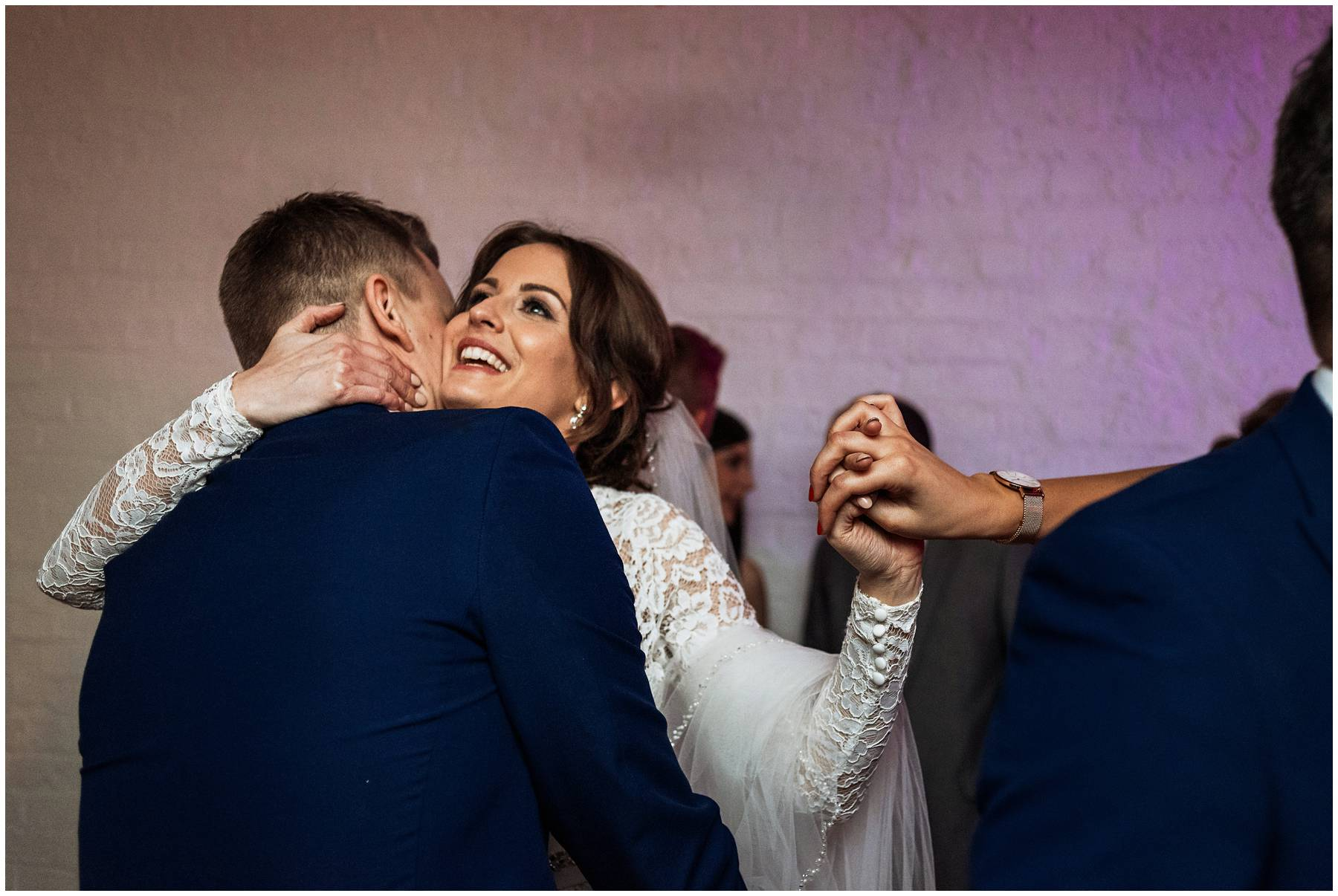 Bride and groom taking their first dance at The Winding House