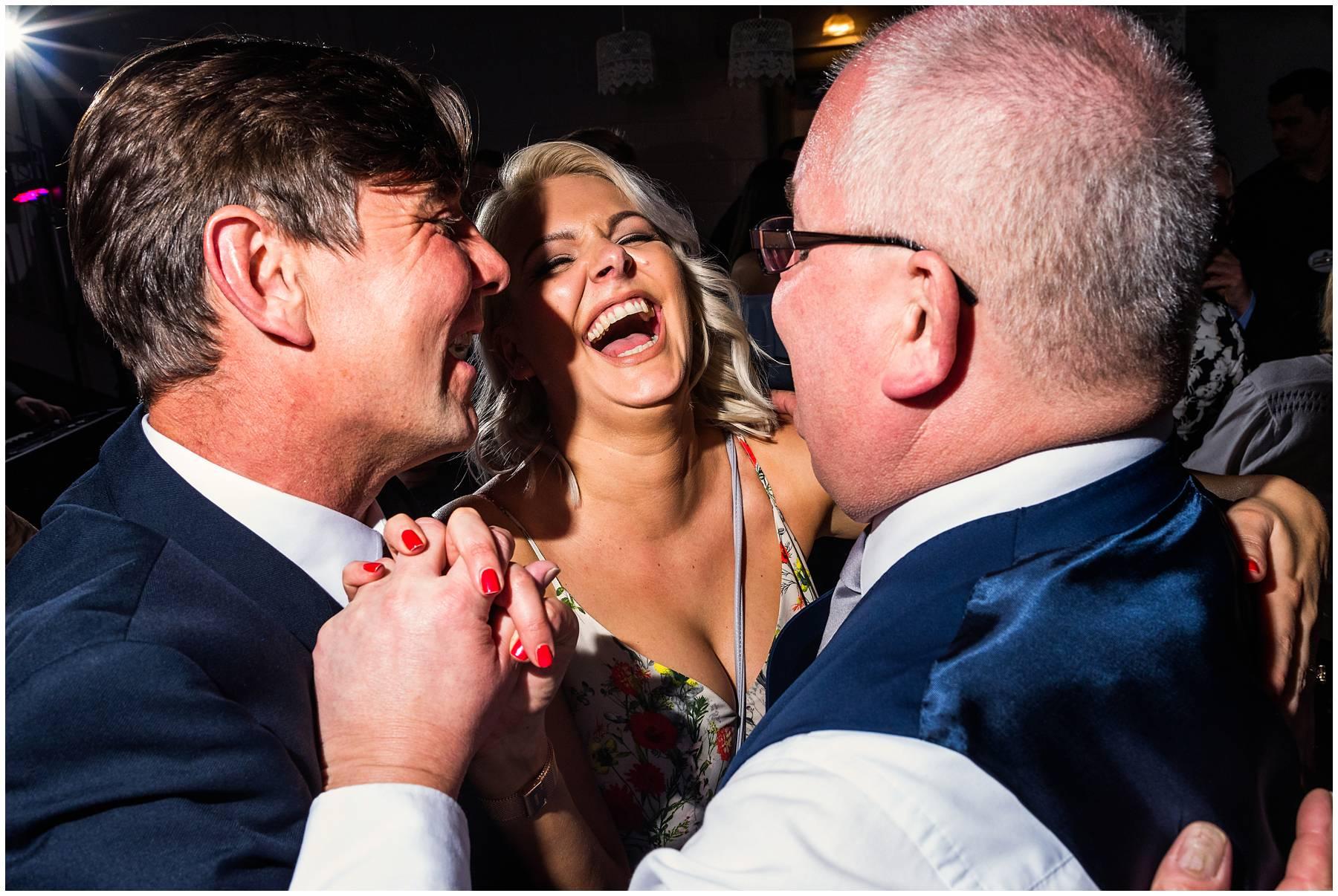 Bridesmaid dancing at Kent wedding