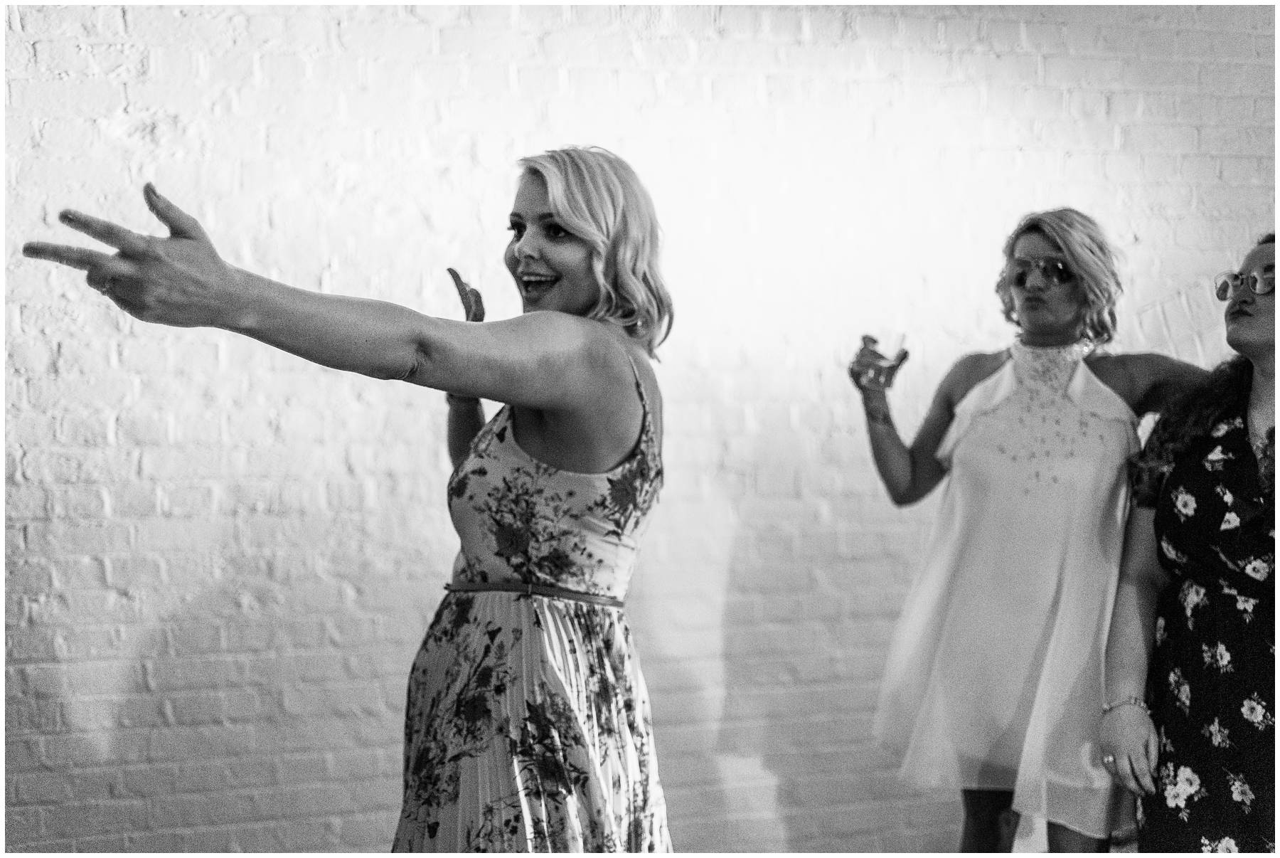 Wedding guests dancing at Kent Wedding