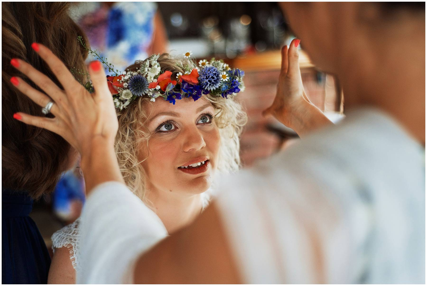 Festival bride with flower crown