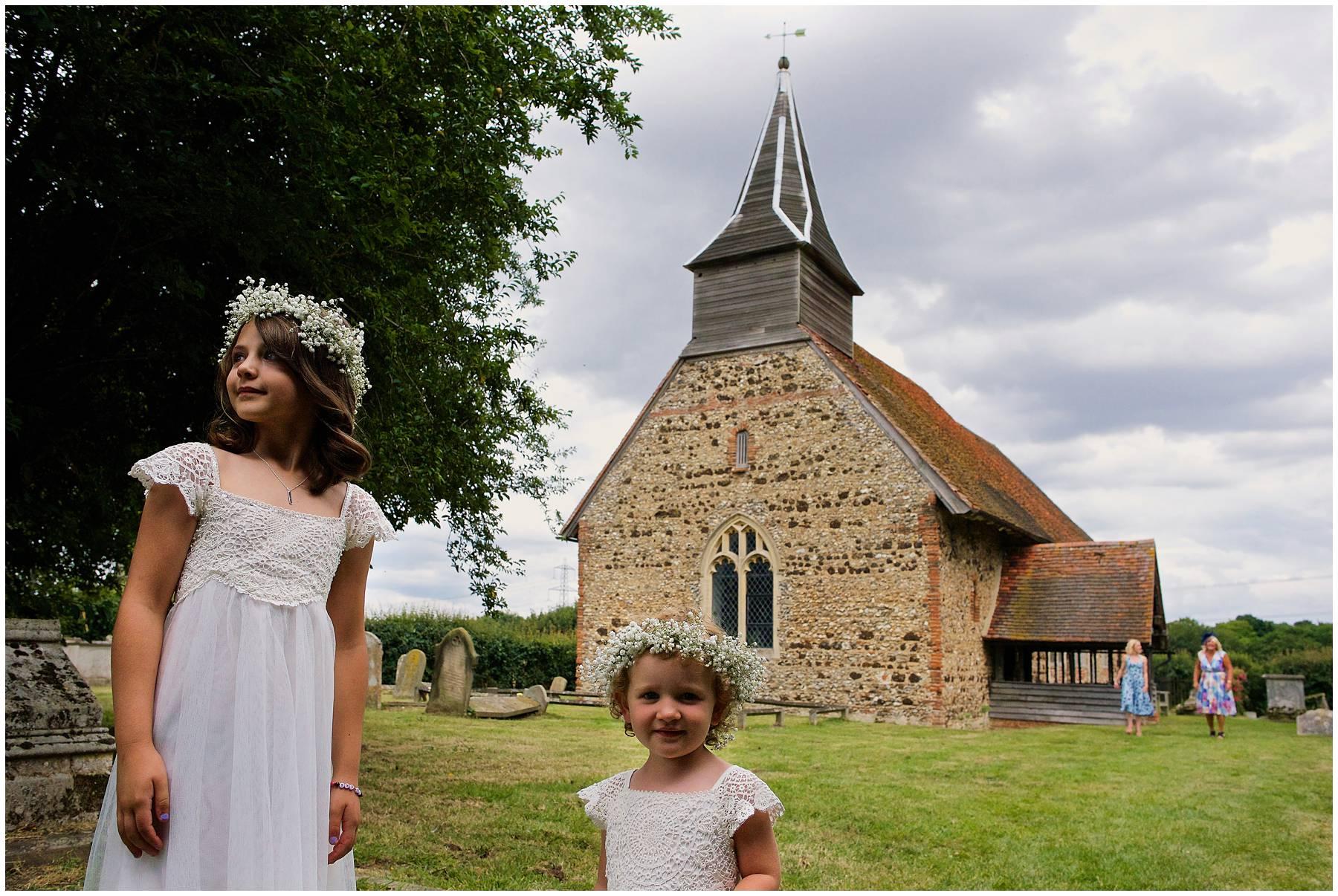 Flower girls at Essex church wedding