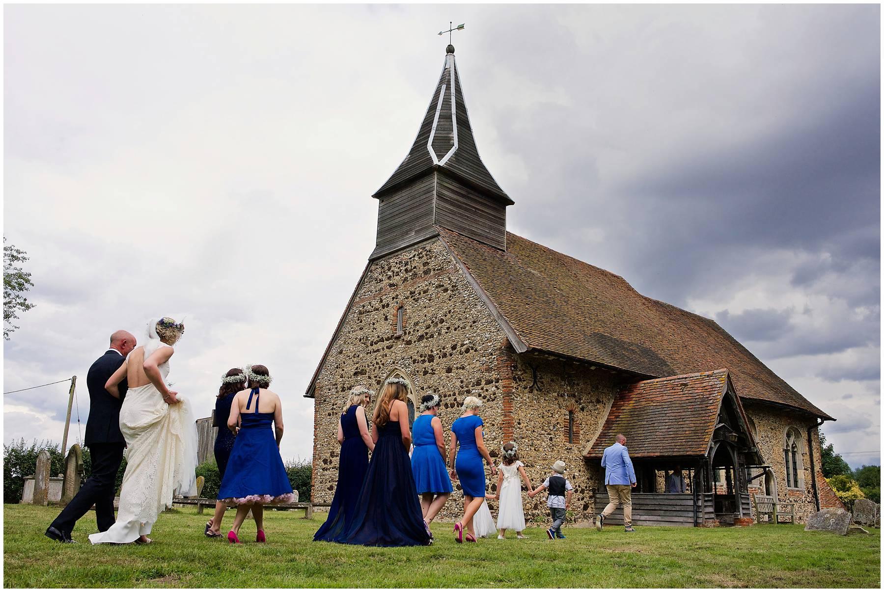 Church wedding in Coggeshall, Essex