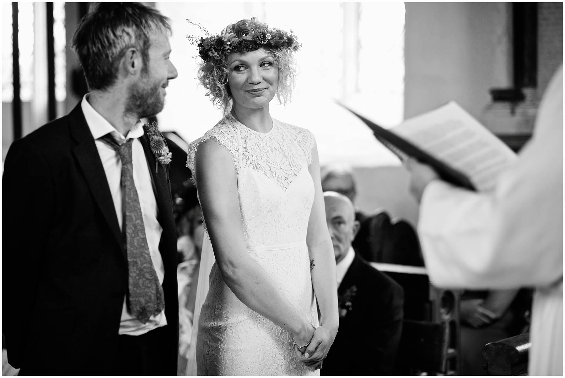 Bride and Groom at Essex church wedding