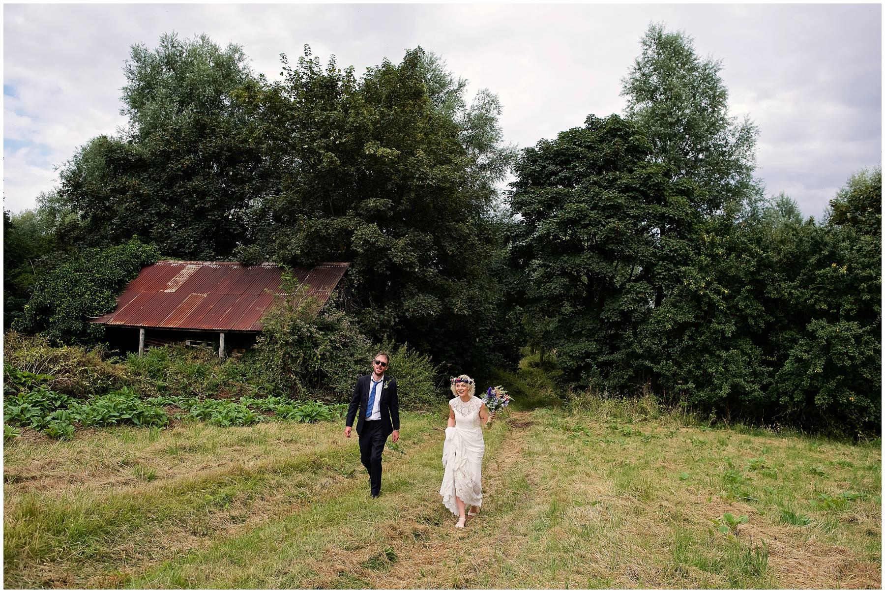 Outdoor wedding in Essex
