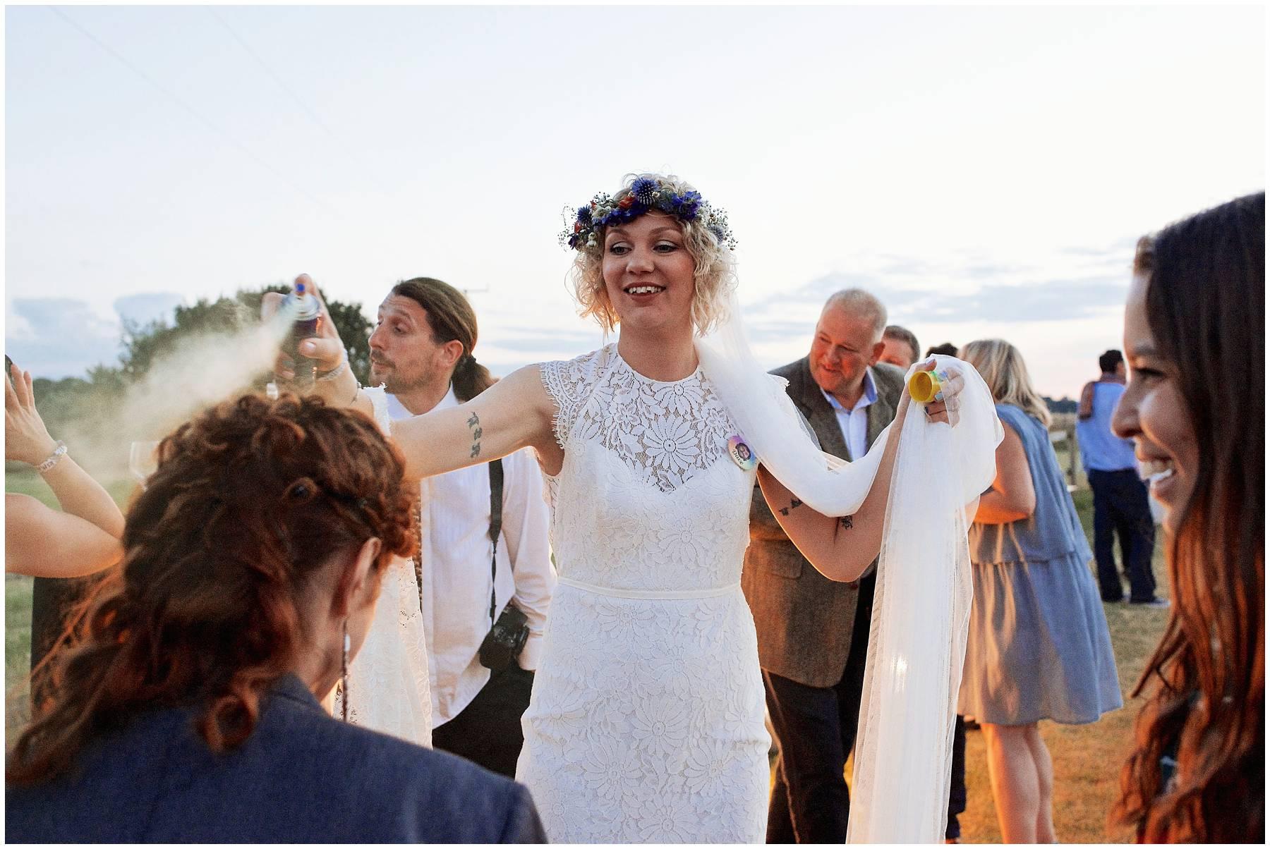 Essex festival bride