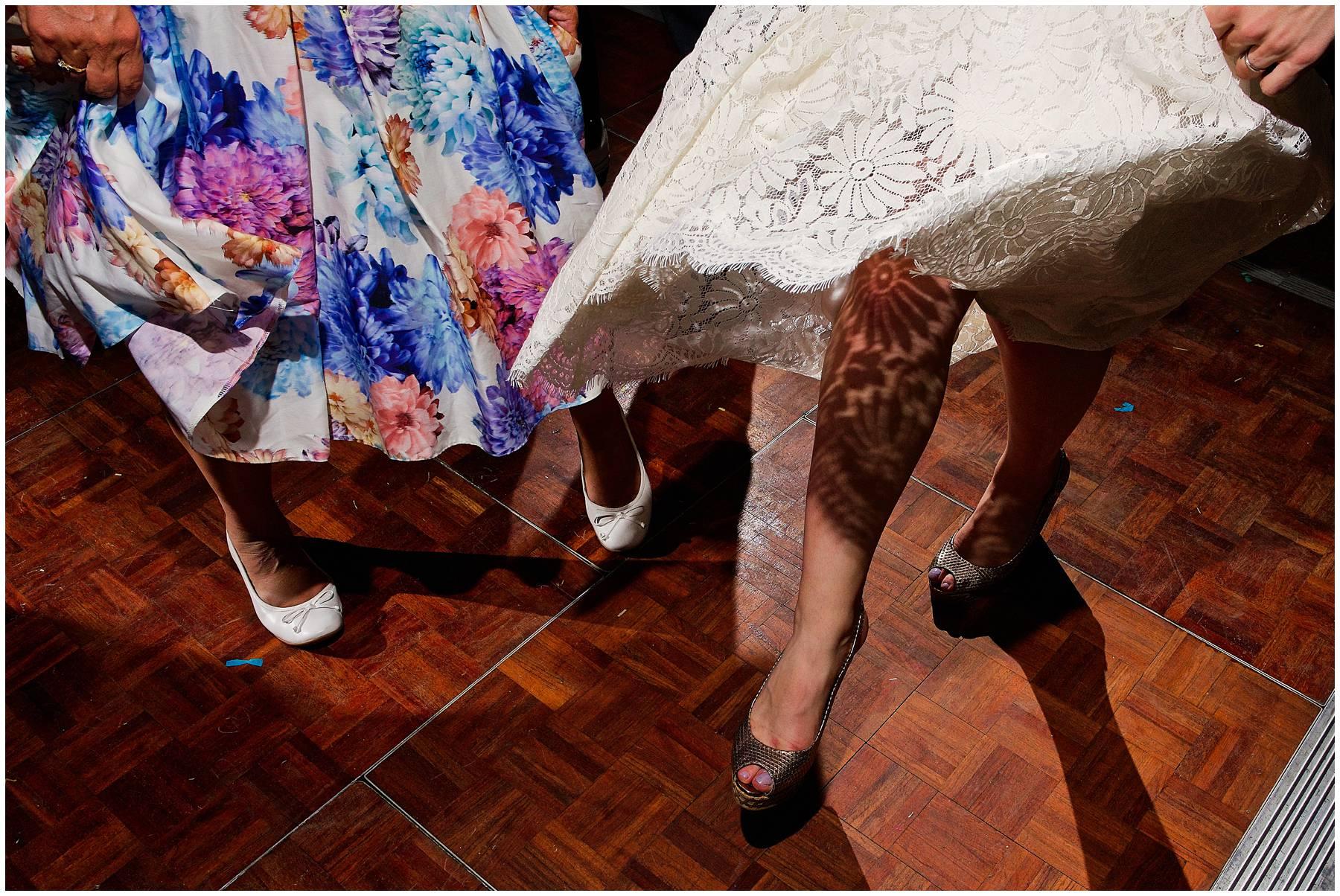 Essex festival bride dancing