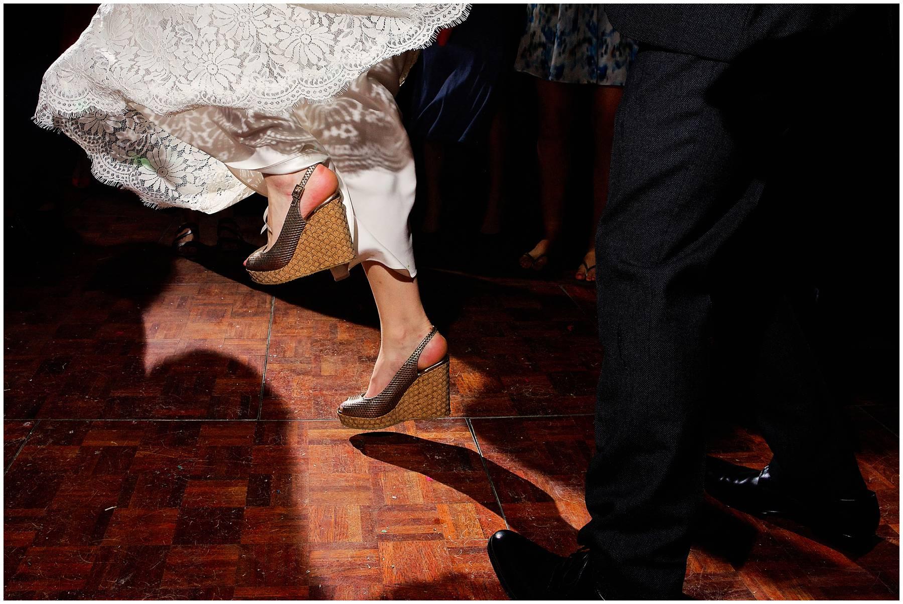 Festival bride dancing