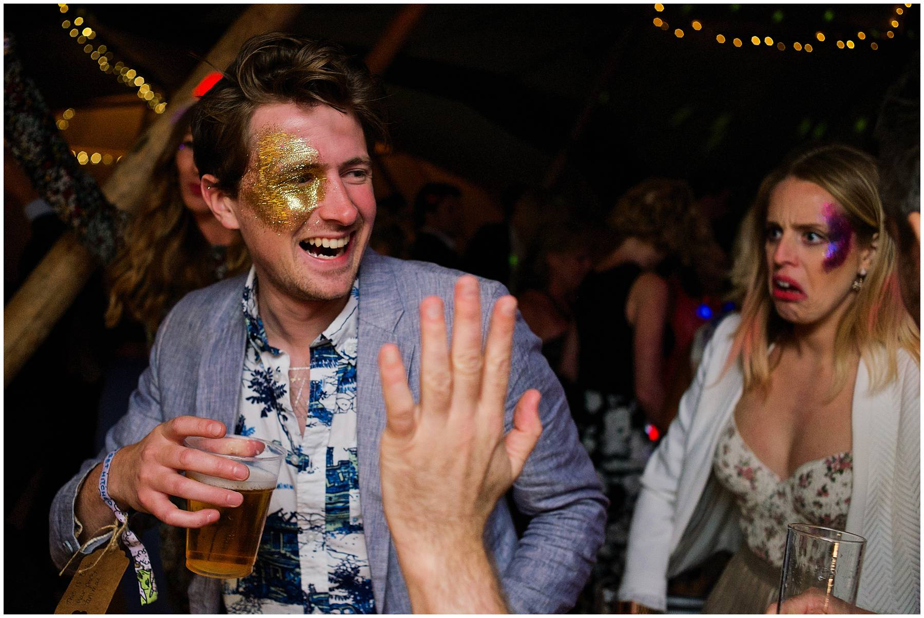 face painting at festival wedding