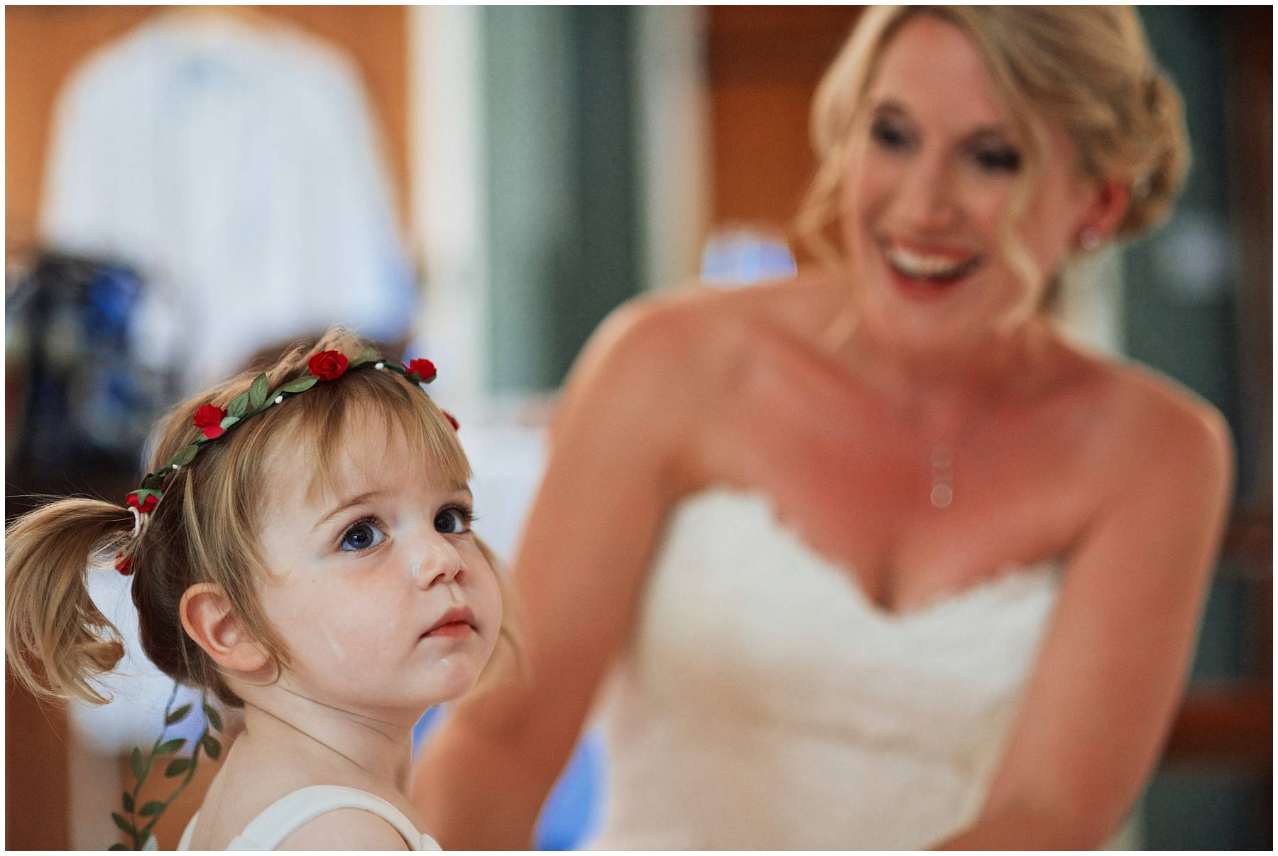 Bride and daughter at Somerset Wedding