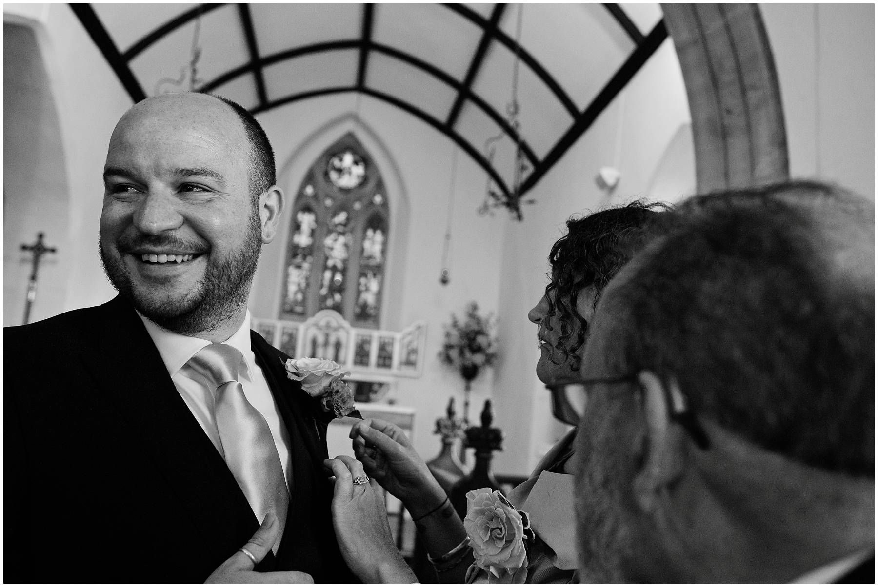 Groom at St Michael's Church, Chaffcombe