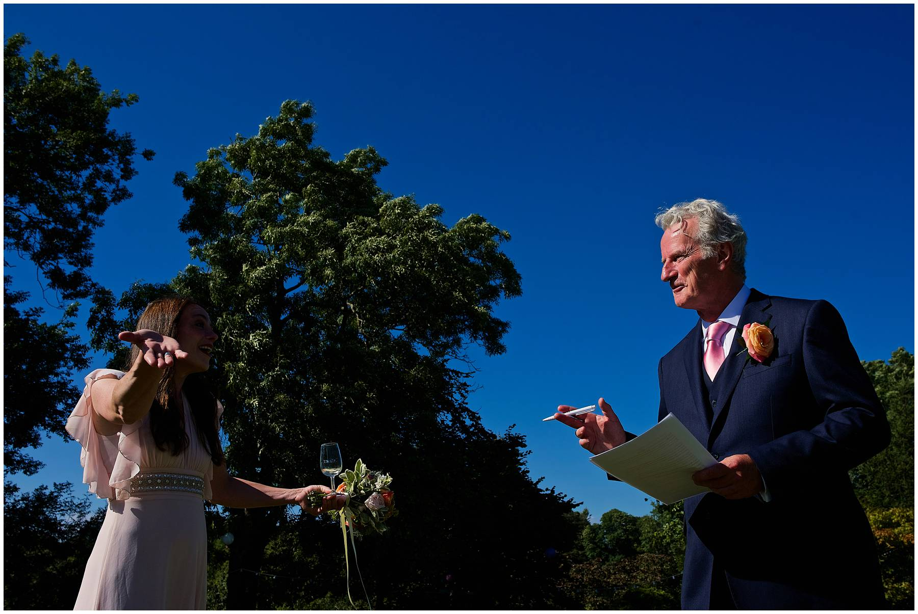 Garden wedding in Taunton