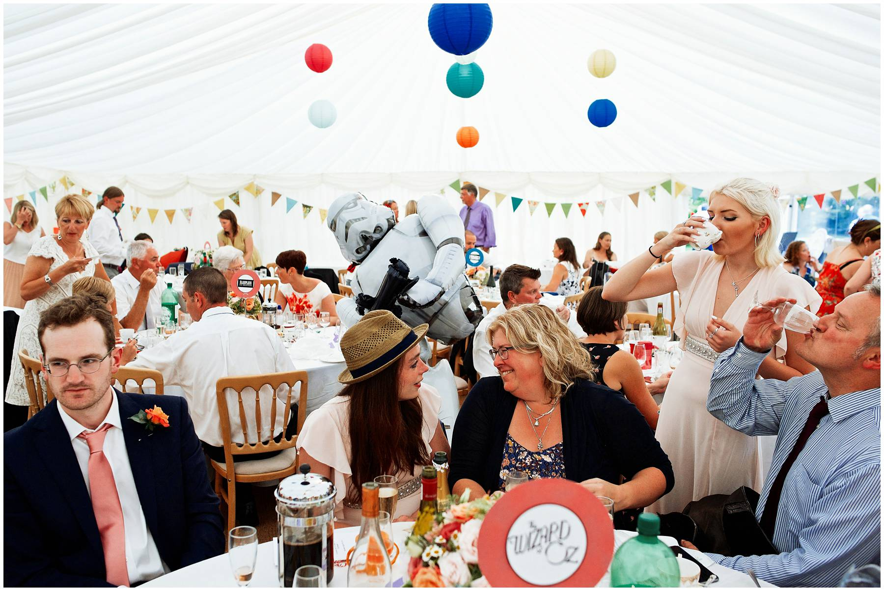 Storm Trooper balloon at Taunton Wedding