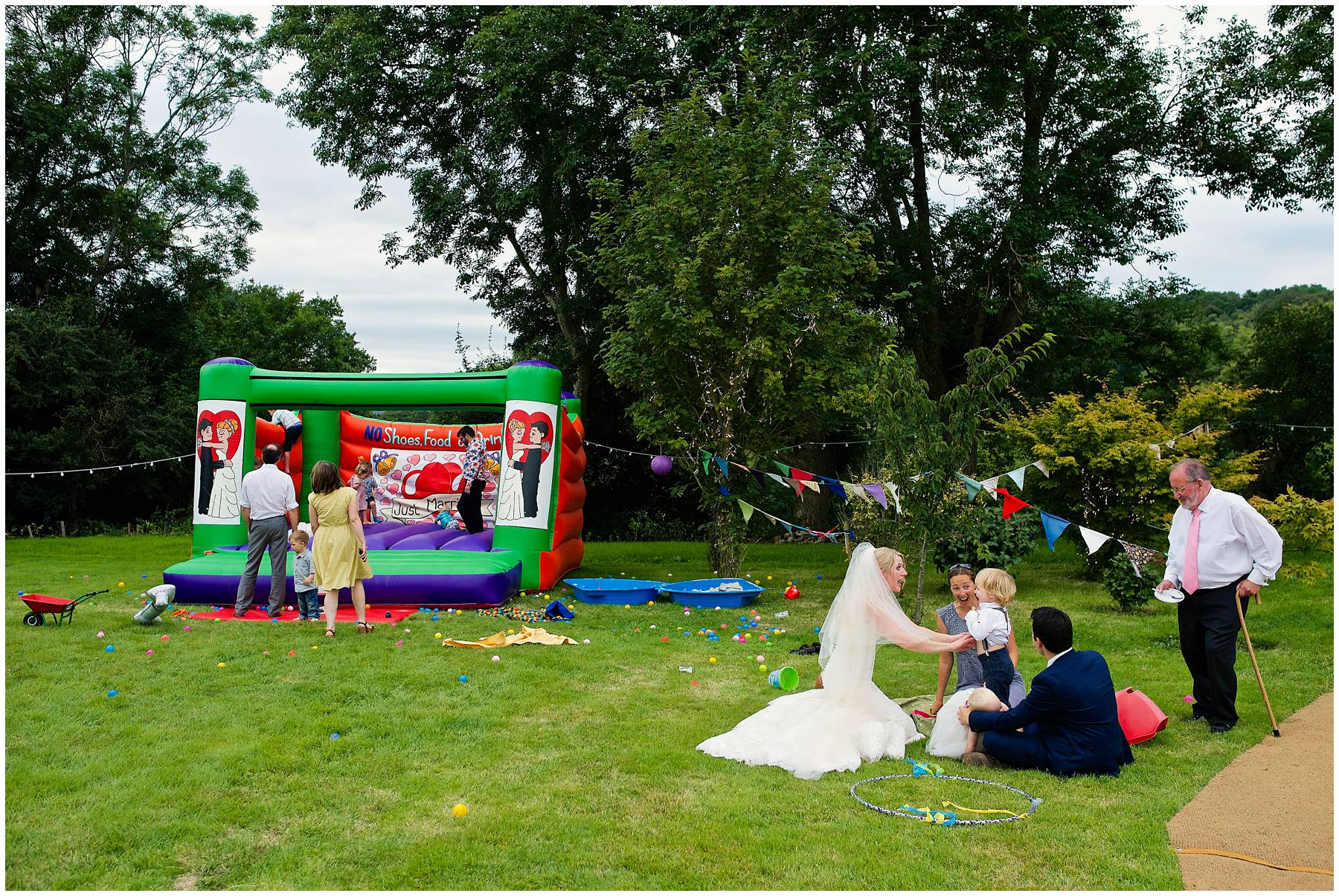 Wedding bouncy castle in Somerset