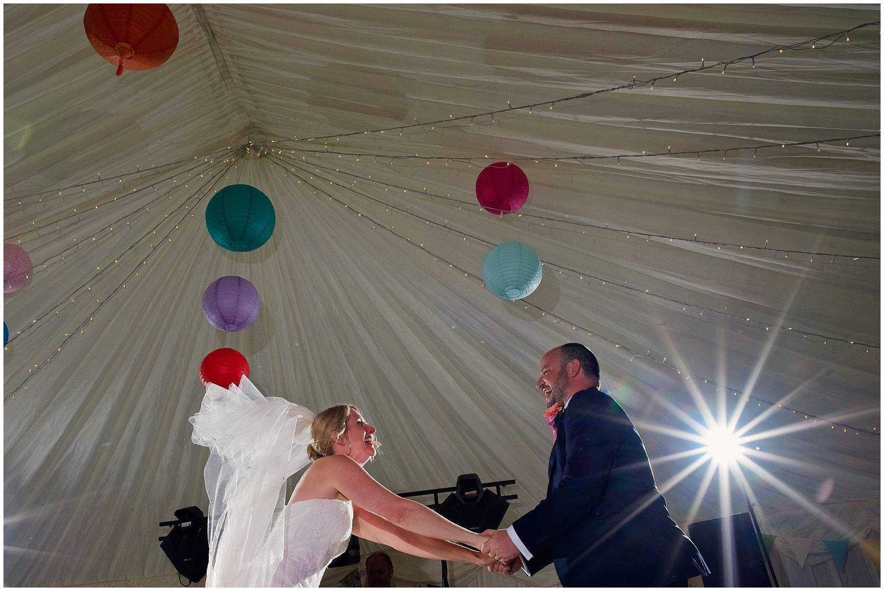 First dance at Somerset marquee wedding
