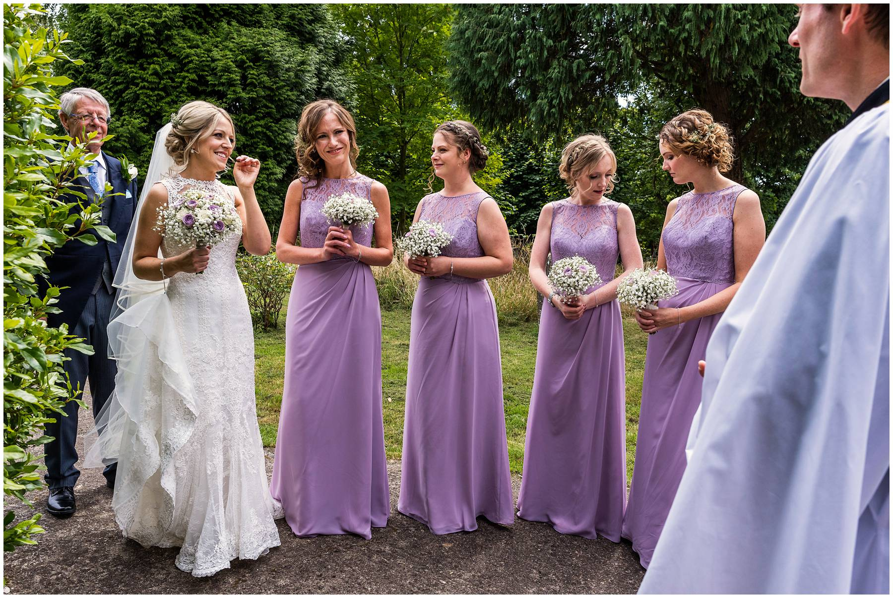 Bridal party at Worcester wedding
