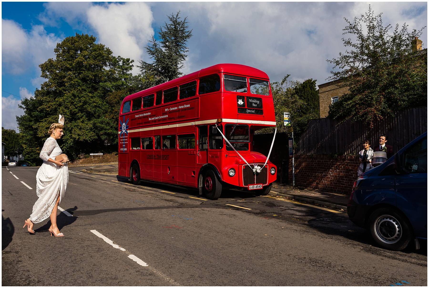 Vintage Wedding Routemaster for alternative couple