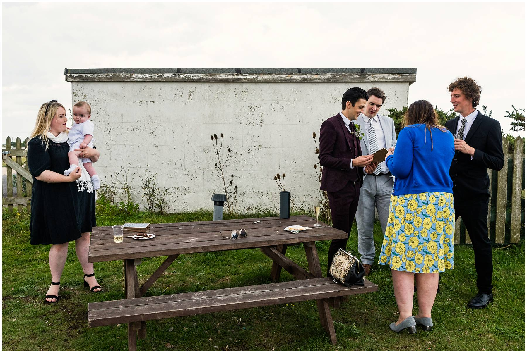 Summer wedding in Dungeness
