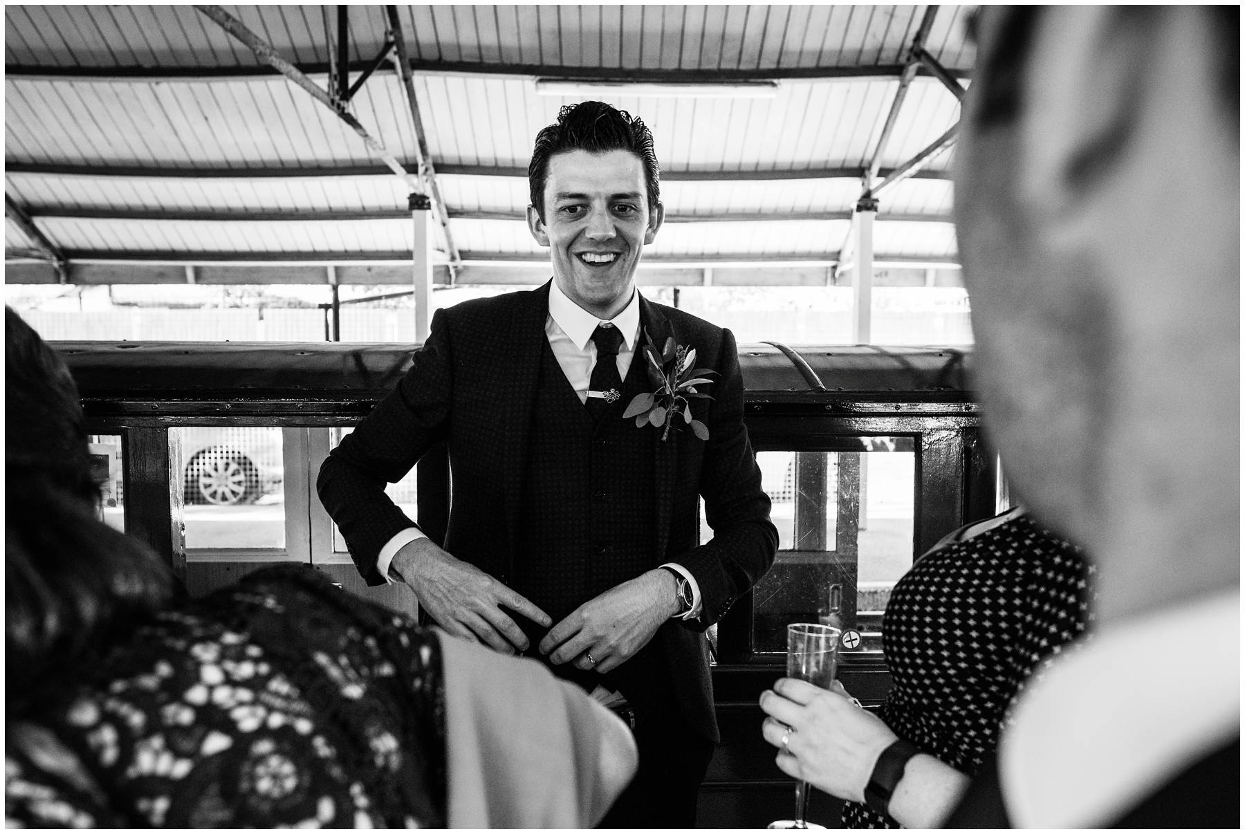 Reportage Wedding Photography on a mini railway