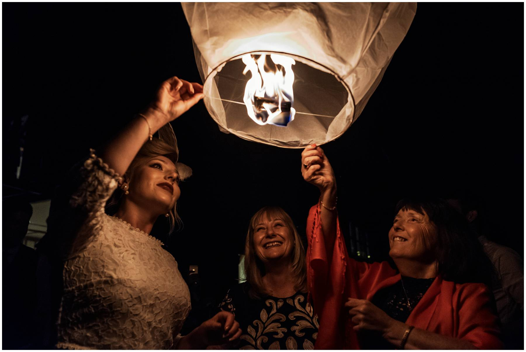 Dungeness Wedding Chinese lantern release