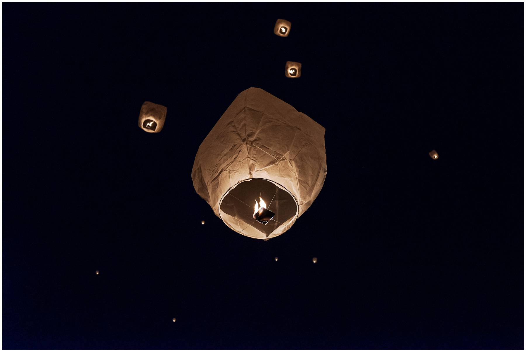 Chinese lantern release