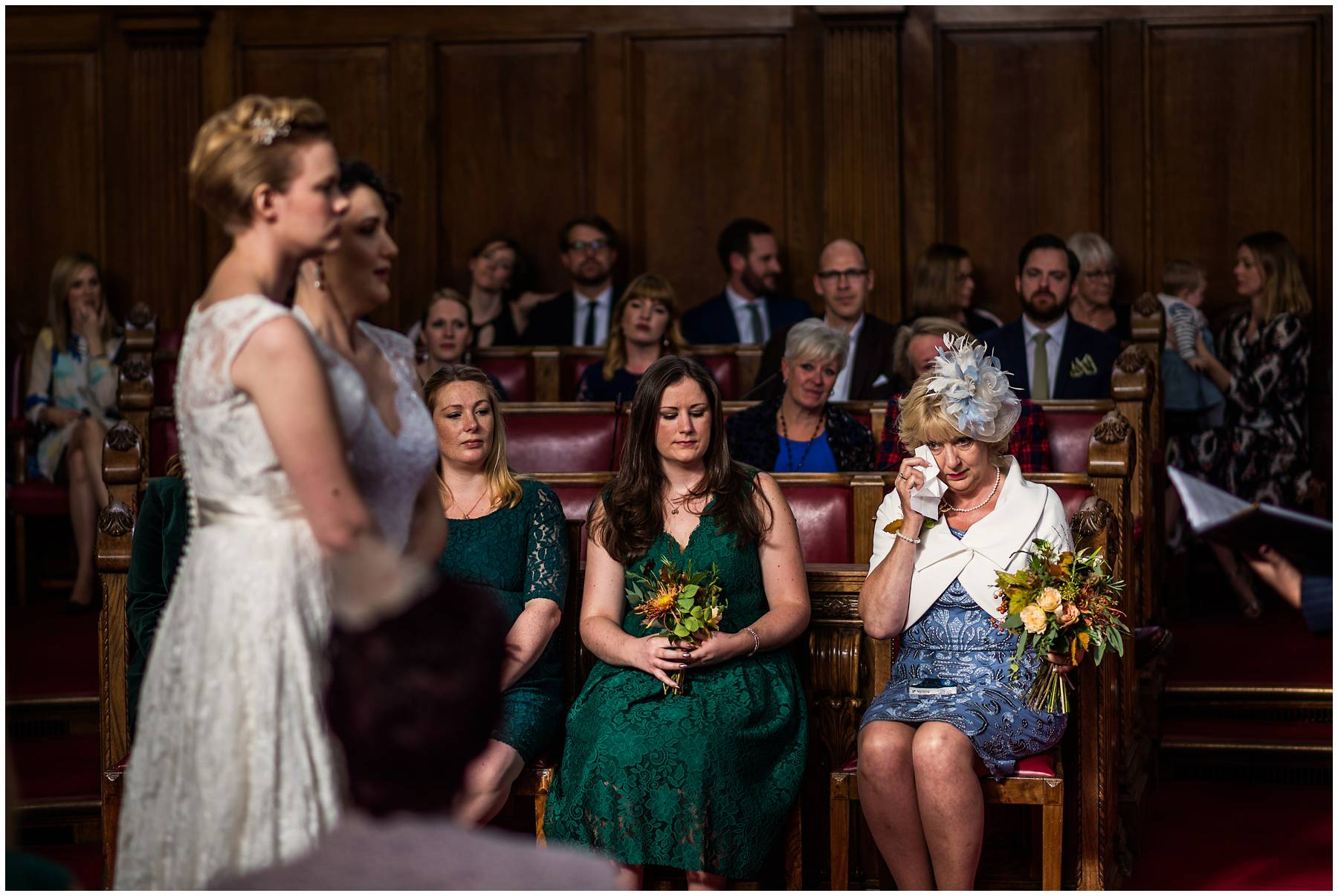 Emotional mum at Islington Town Hall Wedding