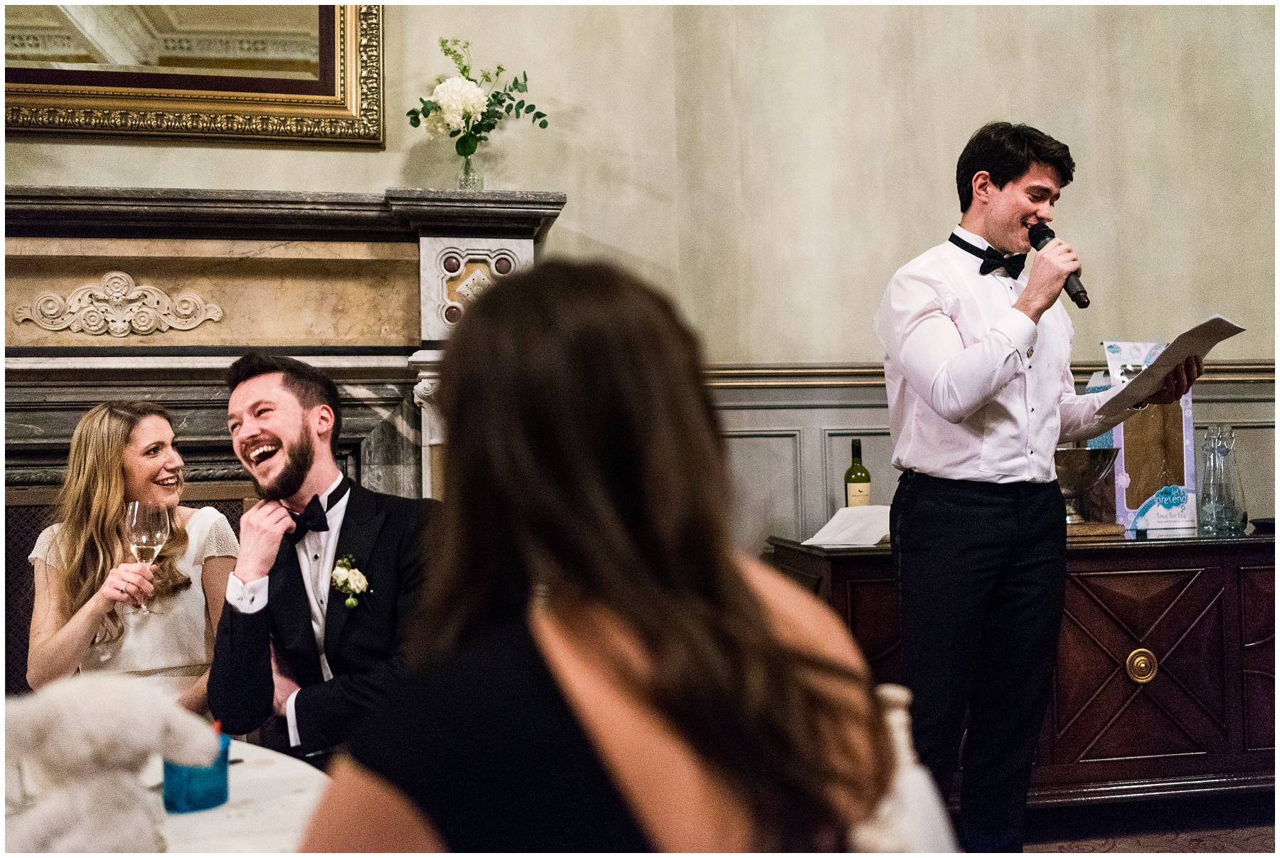 Wedding speeches at St Pancras Renaissance Hotel