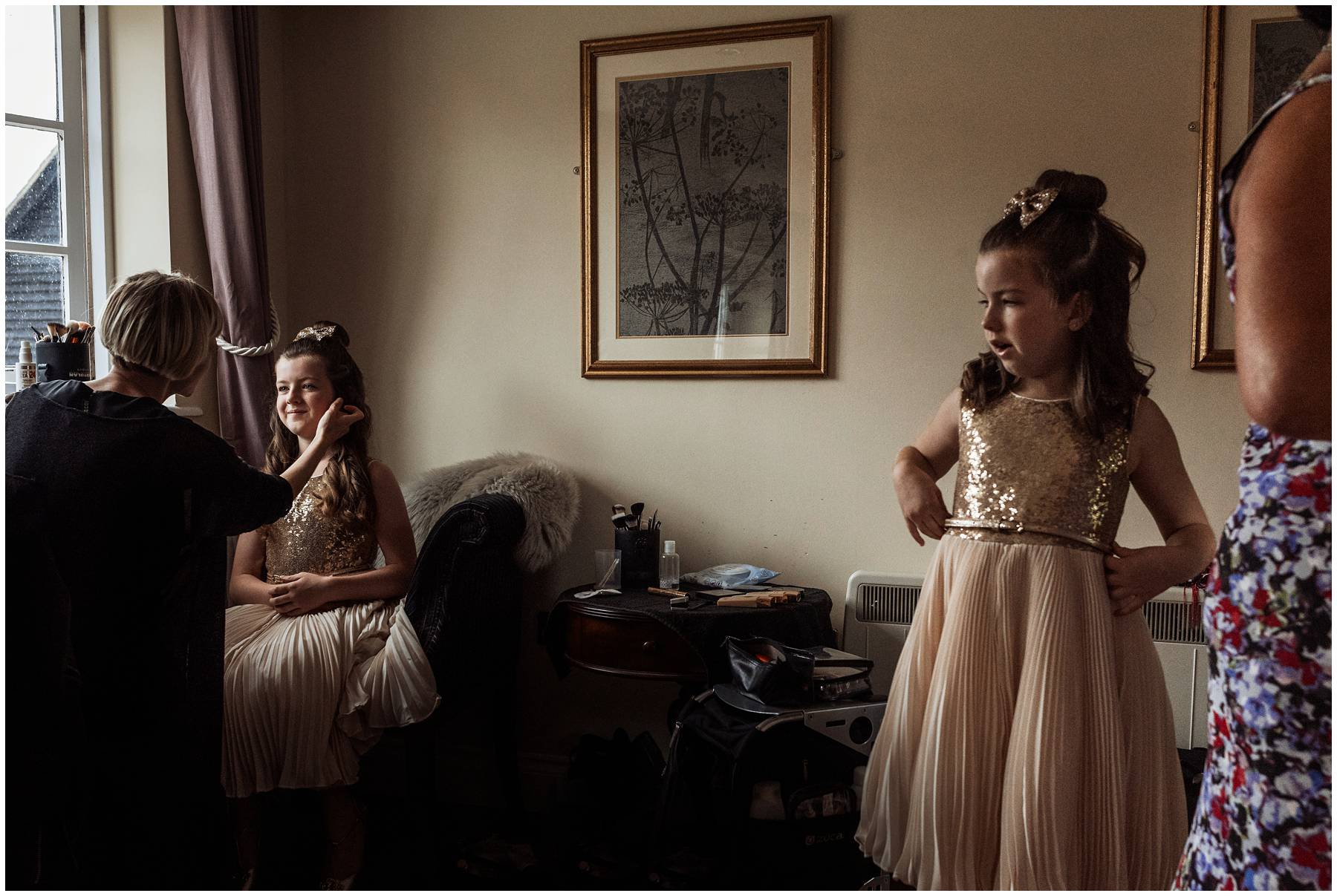 Flower girls at Vaulty Manor